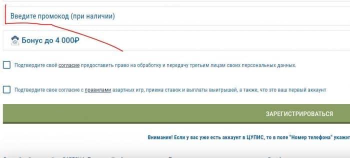 аккаунт ЦУПИС промокод